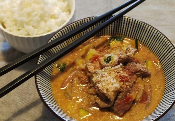 Curry rouge au boeuf
