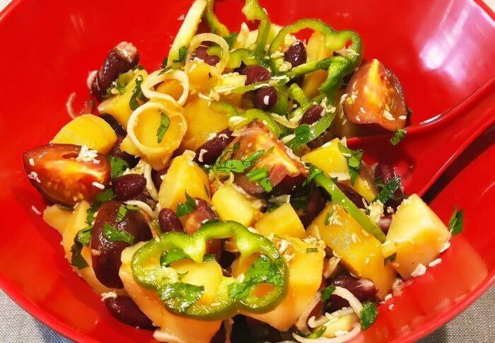 Salade de pommes de terre saveurs asiatiques