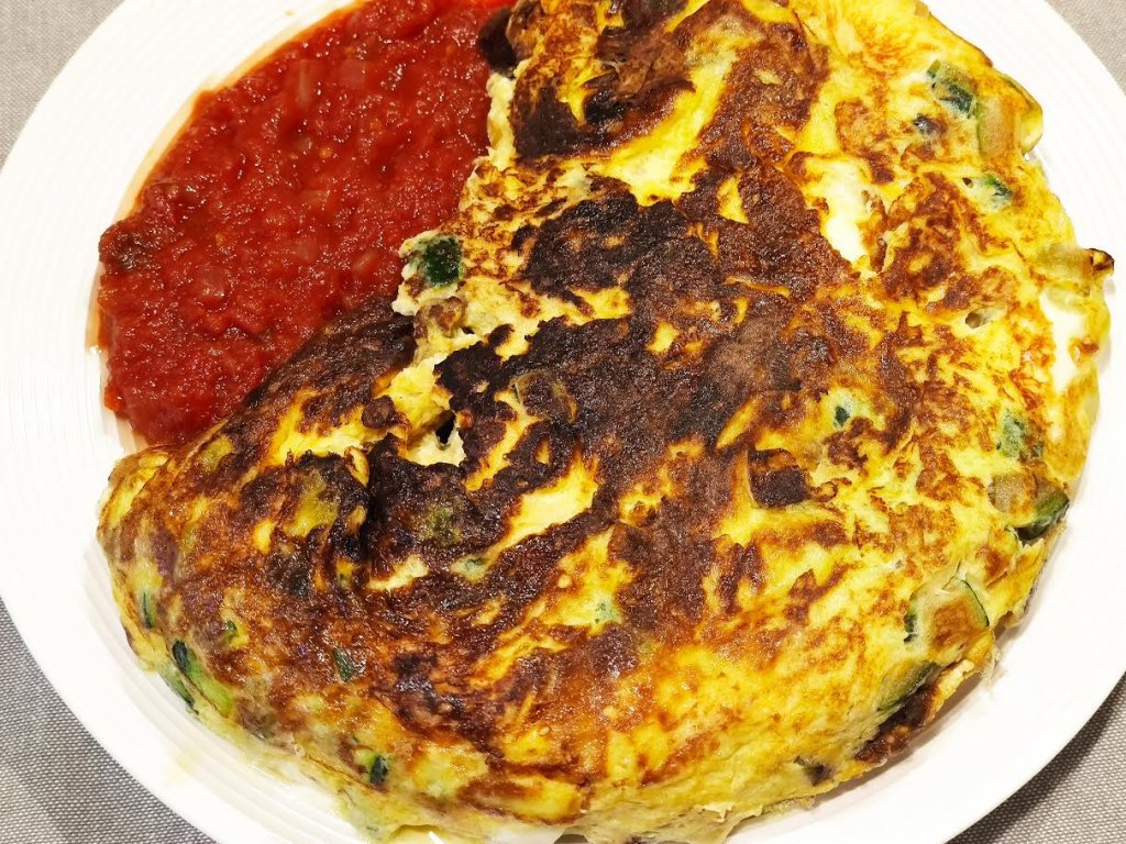 photo de Omelette aux courgettes