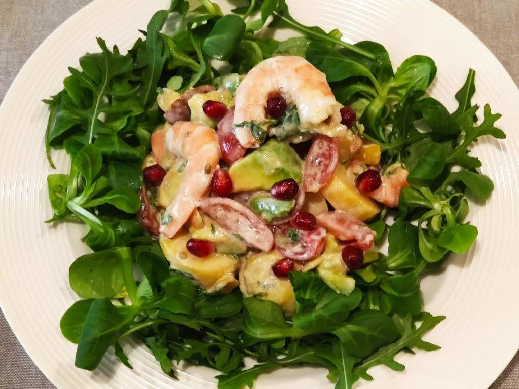 photo de Salade de pommes de terre aux crevettes