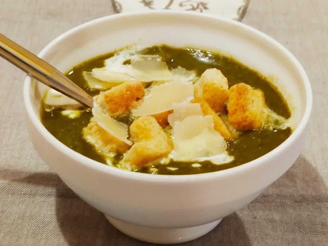 photo de Soupe verte à l'ail des ours