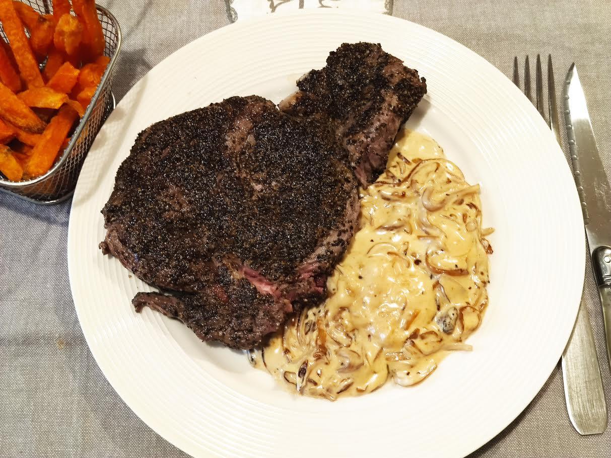 photo de Steak au poivre fumé