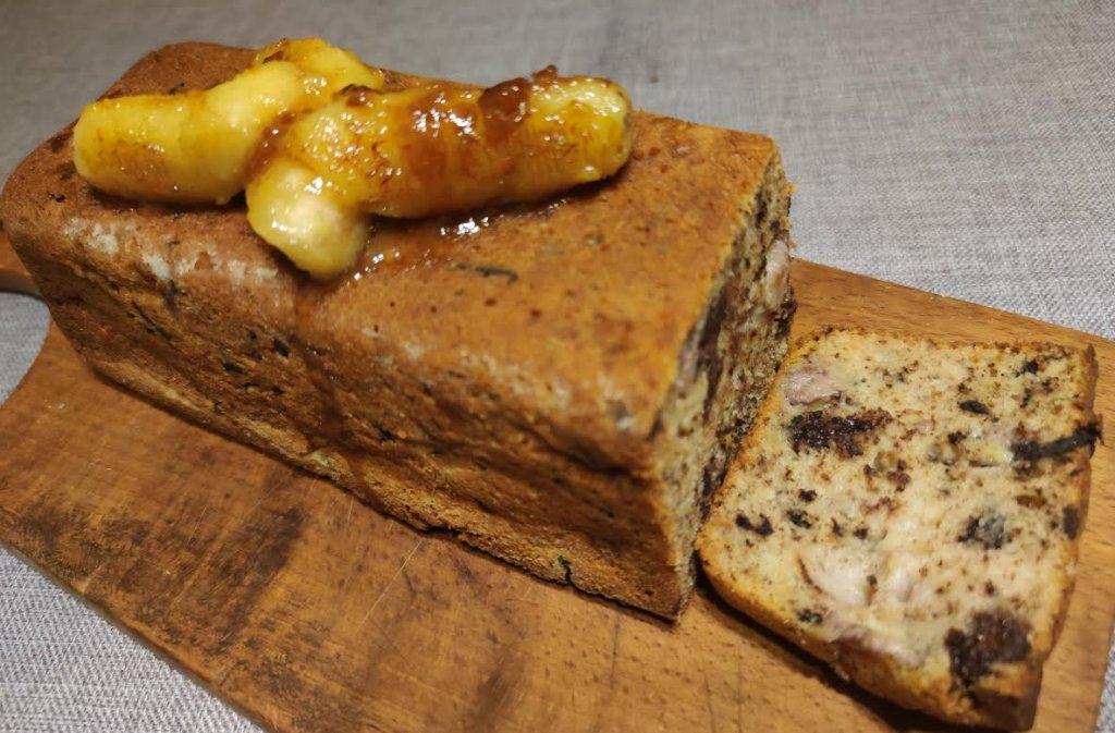 photo de Gâteau à la noix de coco, banane et chocolat