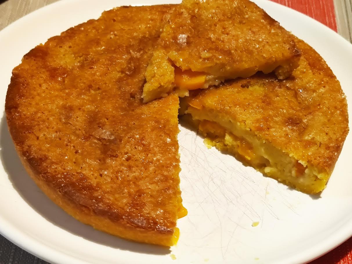 photo de Gâteau moelleux aux pêches