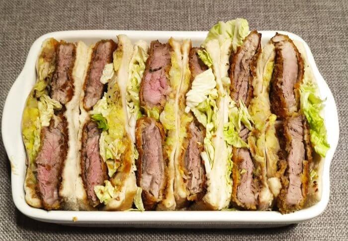 Porc  sauce tonkatsu en sandwiches
