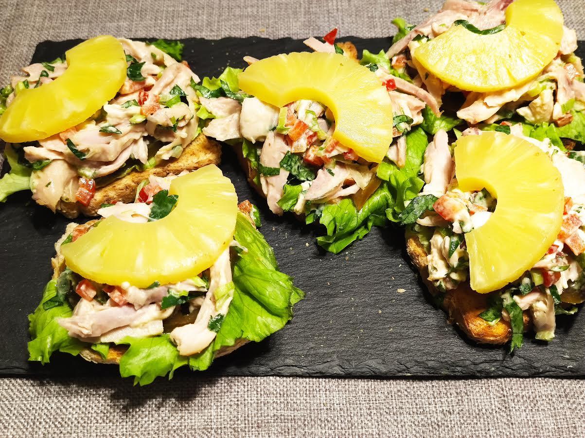 photo de Sandwiches au poulet fumé