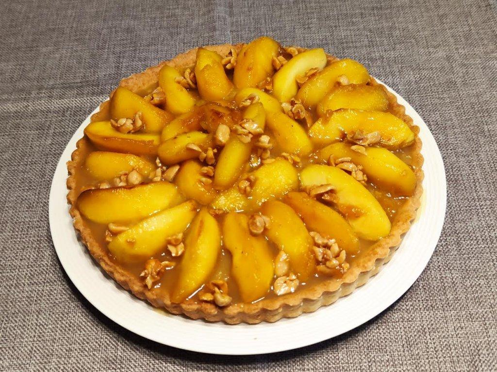 photo de Tarte aux pommes cacahuètes caramélisées
