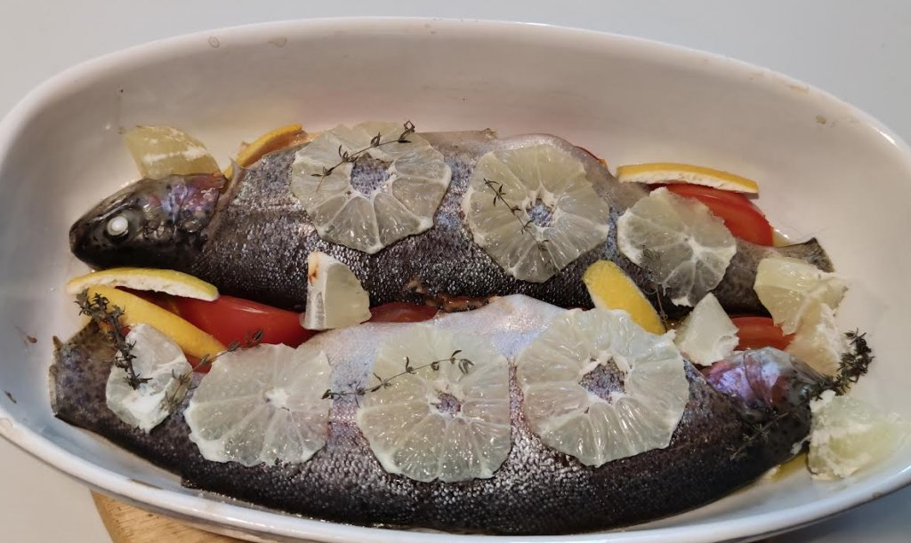 photo de Truites saumonées au four