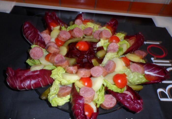 Salade à la saucisse de Montbéliard